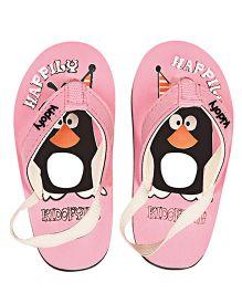 Kidofy Penguin Printed Slipper - Light Pink