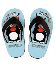 Kidofy Penguin Printed Flip Flops - Light Blue