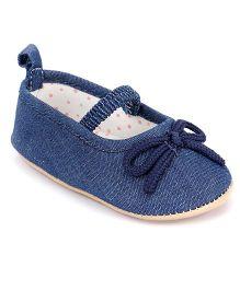 Fox Baby Denim Booties - Navy Blue