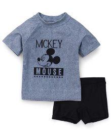 Fox Baby 2 Piece Swimsuit - Dark Grey