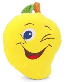 Playtoons Mango Shape Cushion - Yellow