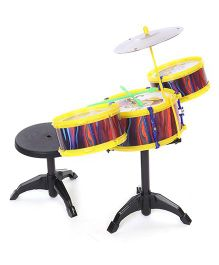 Lovely Drum Set Monkey Print - Yellow