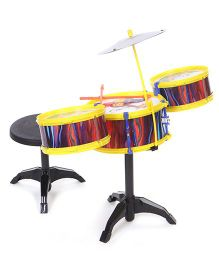 Lovely Drum Set Animal Print - Yellow Multicolor