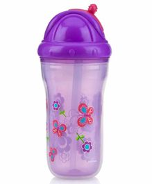 Nuby Insulated No Spill Flip It Cup Purple - 270 ml
