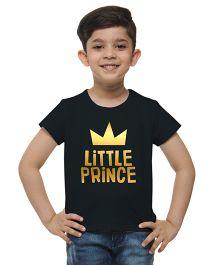M'Andy Little Prince Print Tee - Black