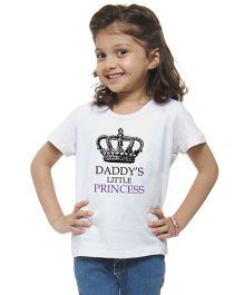M'Andy Daddy'S Lil Princess Printed Tee - White