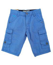 Kuddle Kids Double Pocket Cargo Style Shorts - Blue