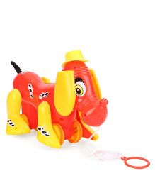 Lovely Pull Along Michael Puppy - Red And Yellow