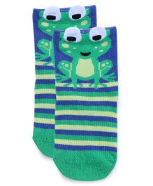 Mustang Socks Froggy Design - Green Blue