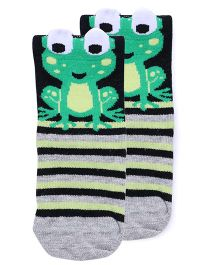 Mustang Socks Froggy Design - Grey Black Green