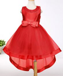 Tickles 4 U High Low Hem Dress With Bow - Red