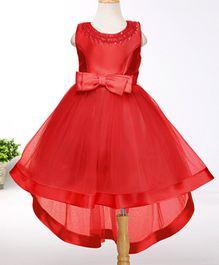 Tickles 4 U High Low Hem Dress With Bow - Red