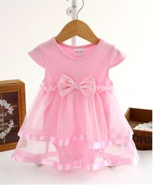 Tickles 4 U Onesie Style Tier Dress - Pink