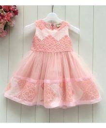 Tickles 4 U Lace Work Dress - Peach
