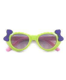 Tickles 4 U Double Bow Polka Dot Sunglasses - Green