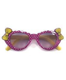 Tickles 4 U Double Bow Polka Dot Sunglasses - Purple