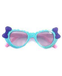 Tickles 4 U Double Bow Polka Dot Sunglasses - Blue