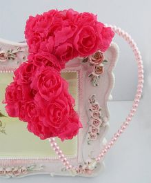 Funky Baby Pearls & Roses Hair Band - Pink
