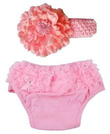 Funky Baby Bloomer Headband Set - Pink
