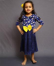 Varsha Showering Trends Smarty Ice Cream Print Dress - Blue