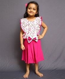 Varsha Showering Trends Gorgeous Dress With Smart Bow - Pink