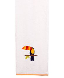 Little Bum Toucan Printed Organic Towel - Multicolor
