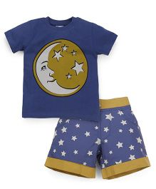 Ventra Boys Star & Moon Tee & Shorts Set - Blue