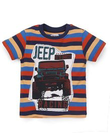Ventra Boys Jeep Print T-Shirt - Multicolor