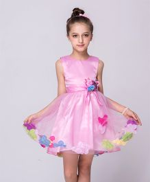 Wonderland Floral Fit & Flare Dress - Pink