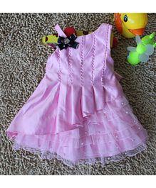 Wonderland Beaded & Pleated One Shoulder Dress - Pink