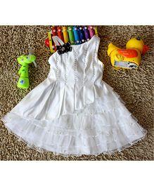 Wonderland Beaded & Pleated One Shoulder Dress - White