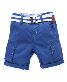 Pumpkin Patch Shorts With Belt - Blue