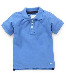 Pumpkin Patch Half Sleeves Polo T-Shirt - Blue