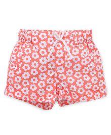 Pumpkin Patch Shorts Floral Print - Peach
