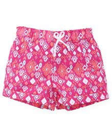 Pumpkin Patch Printed Shorts - Pink