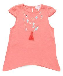 Pumpkin Patch Necklace Printed T-Shirt - Light Orange