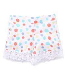 Pumpkin Patch Shorts Dots Print - White Multi Color