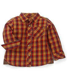 Mothercare Full Sleeves Check Shirt - Red Yellow
