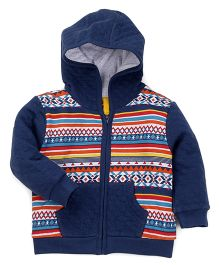 Mothercare Full Sleeves Hooded Sweat Jacket - Navy Blue