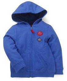 Mothercare Full Sleeves Hooded Sweatshirt - Blue