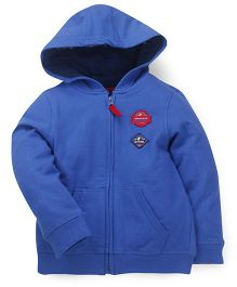 Mothercare Full Sleeves Hooded Sweatshirt - Blue