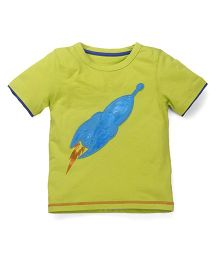 Mothercare Half Sleeves T-Shirt Rocket Patch - Lime Green