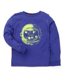 Mothercare Sweatshirt Quote Print - Blue