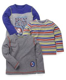 Mothercare Sweatshirt Pack Of 3 - Grey Blue