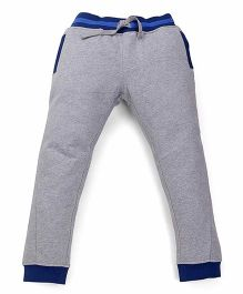 Mothercare Solid Color Track Pant With Drawstring - Grey