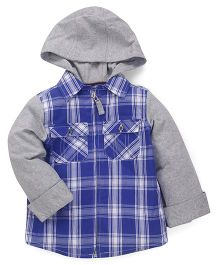 Mothercare Full Sleeves Sweat Jacket - Blue Grey