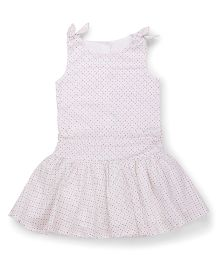 Mothercare Pinafores Frock Polka Dots- White