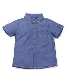 Mothercare Half Sleeves Shirt - Blue