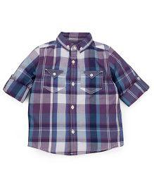 Mothercare Full Sleeves Shirt Checks Design - Blue