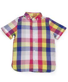 Mothercare Half Sleeves Shirt Checks Design - Multi Color